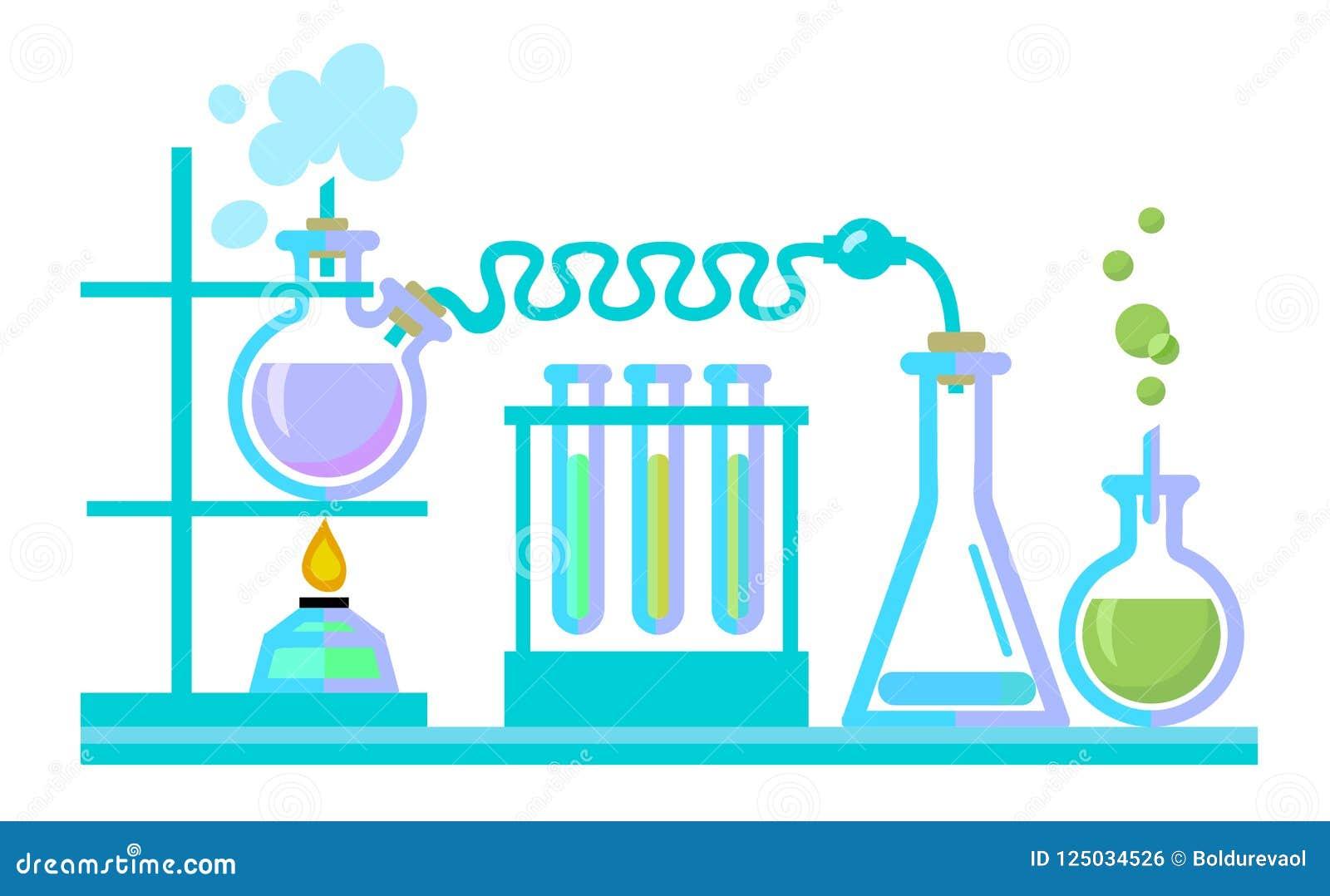 化学科学实验室设备 试管,烧瓶, spiritlam vectot
