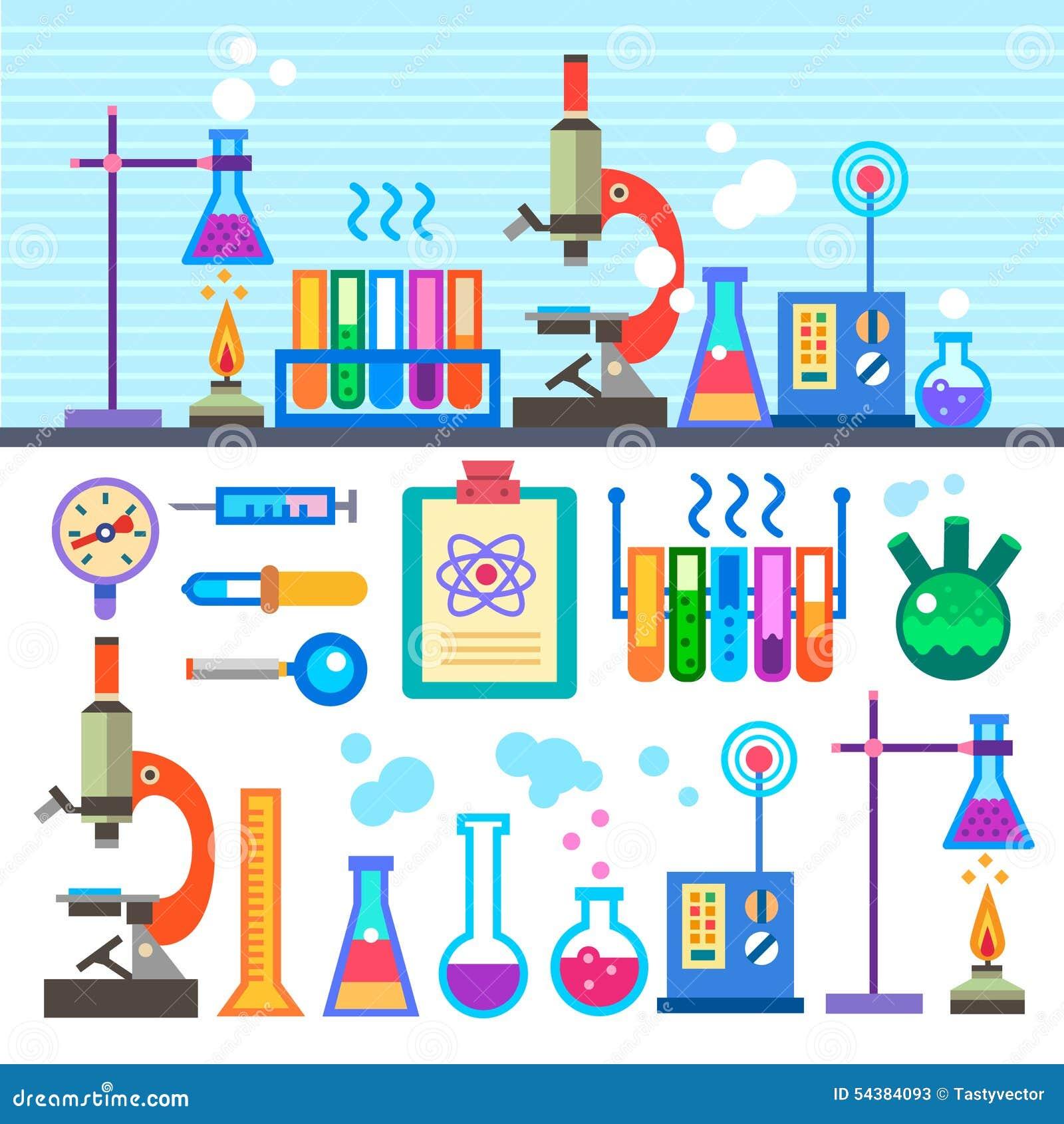 化工实验室在平的样式化学制品实验室