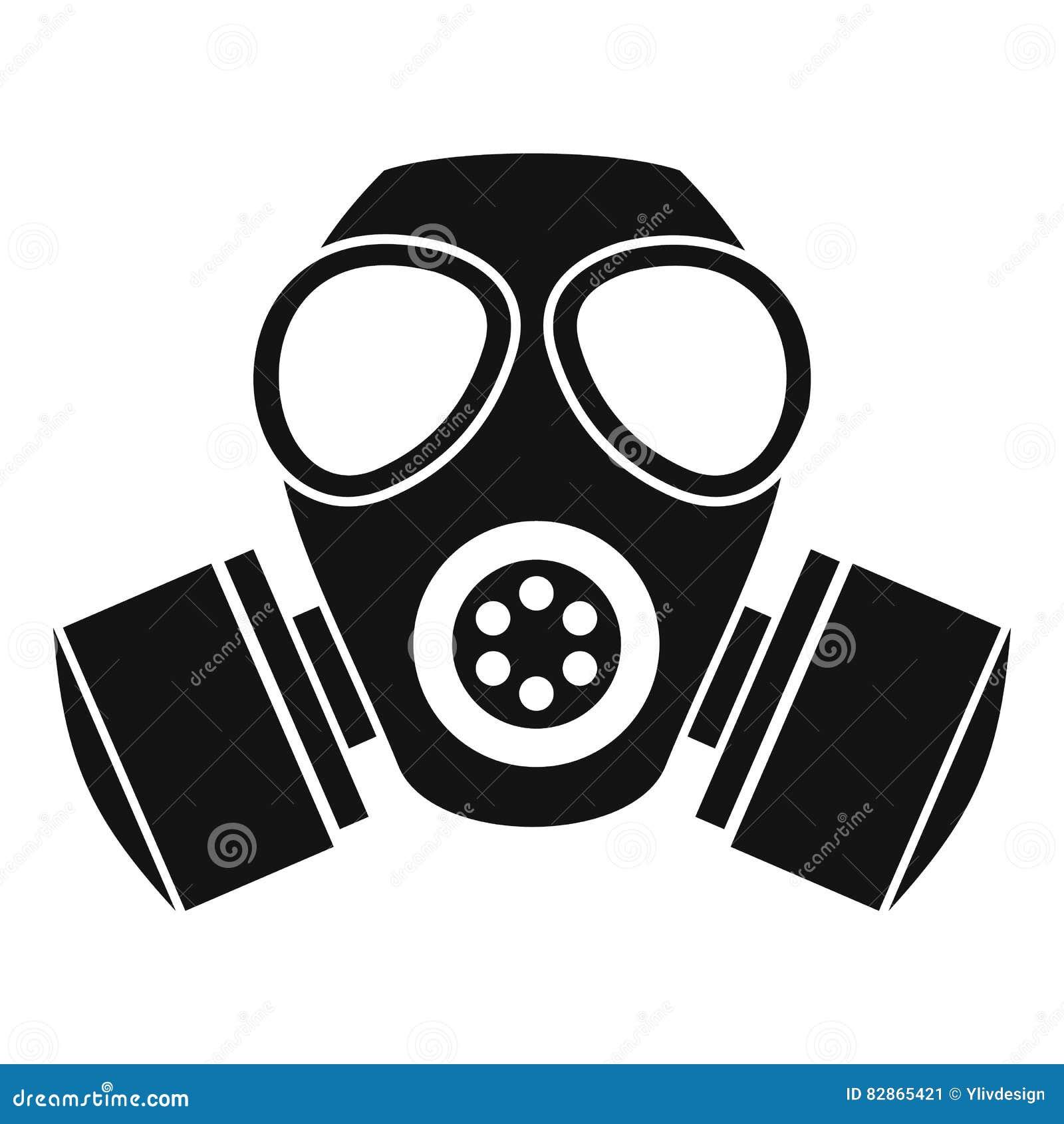 化工防毒面具象,简单的样式