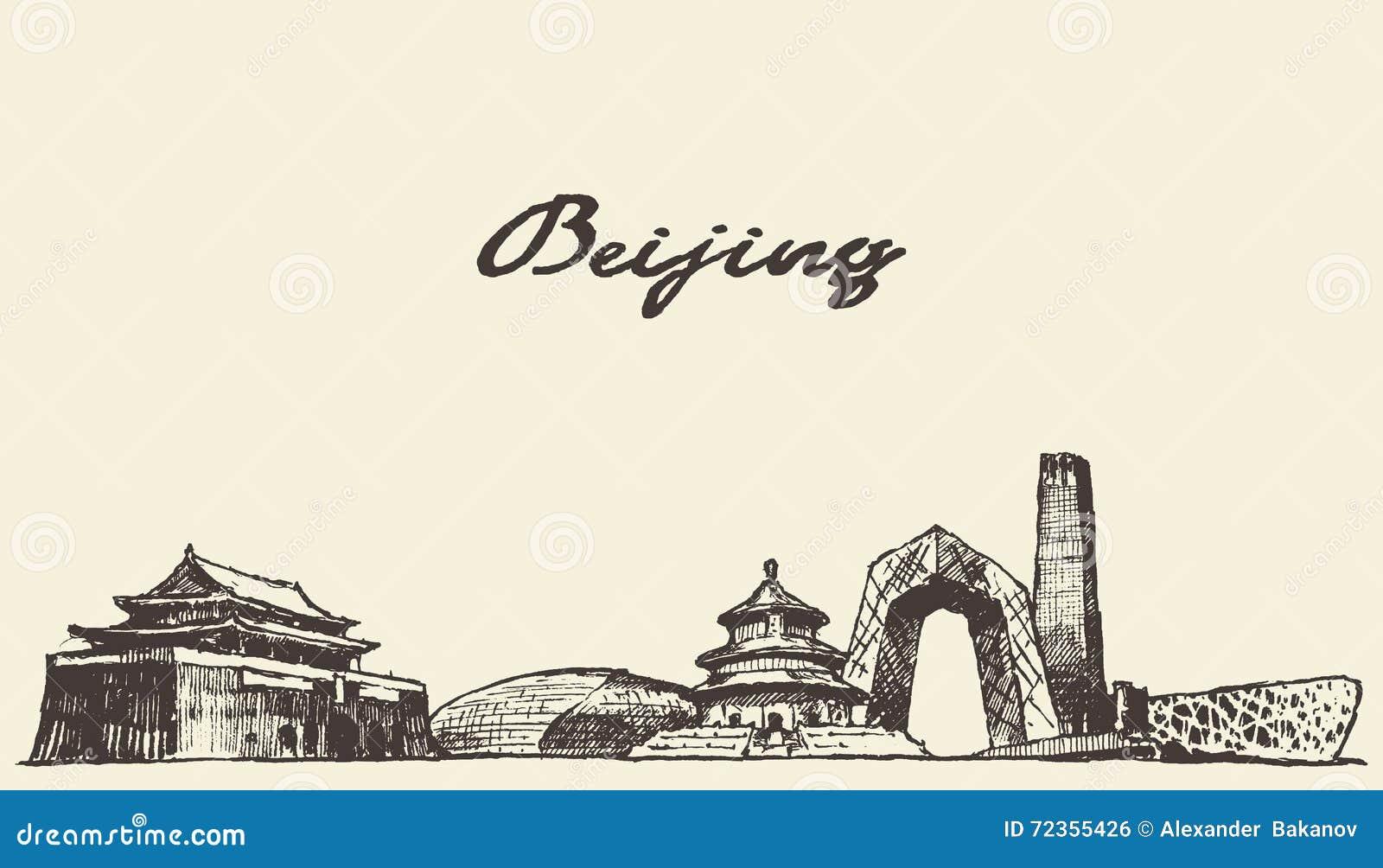 北京地平线得出的传染媒介例证,剪影