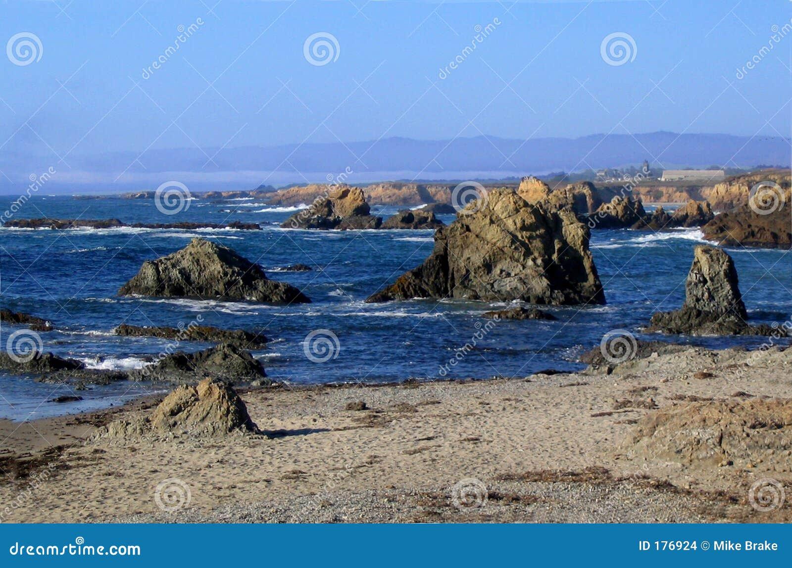 北加利福尼亚的海岸