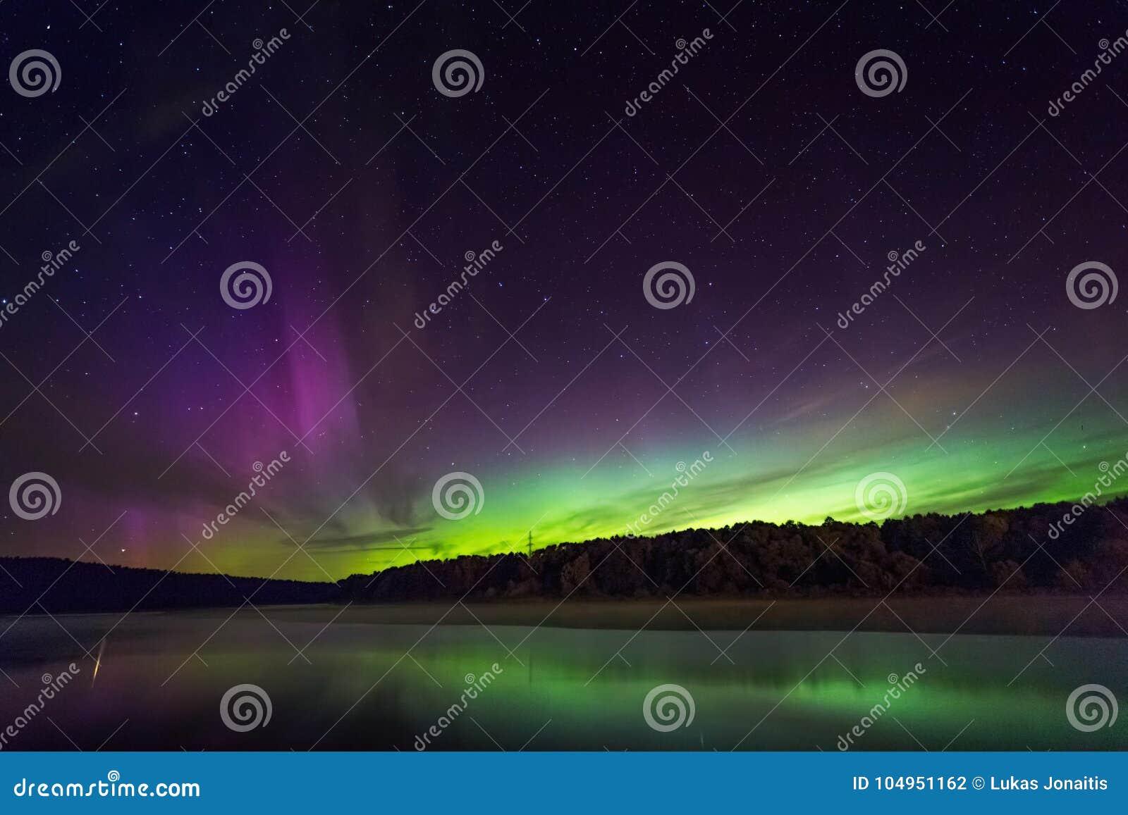 北极光在立陶宛