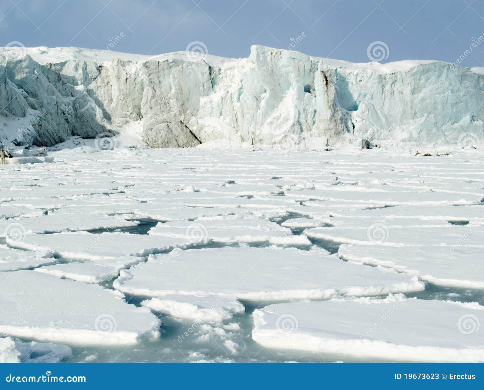 北极冰川冰海洋
