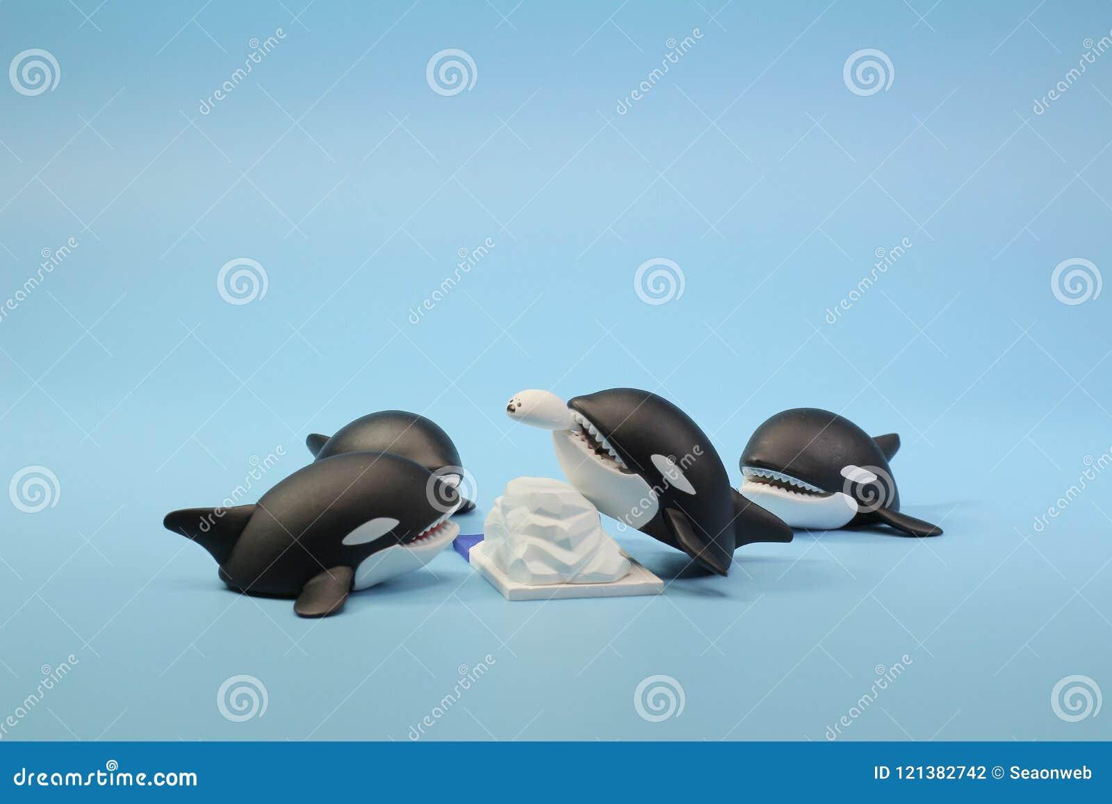 北极野生生物动物形象题材