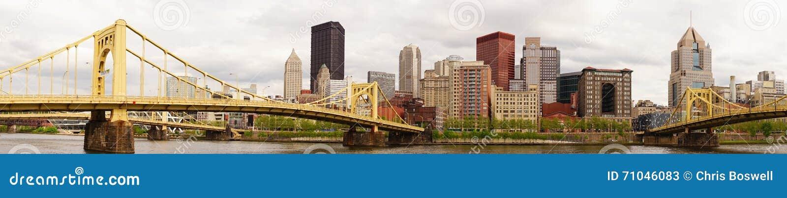 匹兹堡宾夕法尼亚街市市地平线Allegeny河