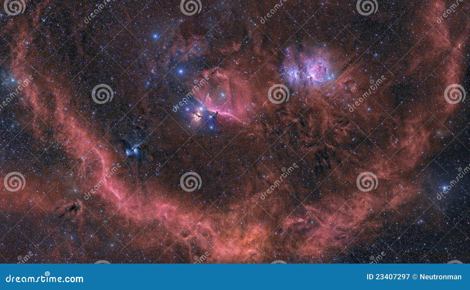 区星云猎户星座包围
