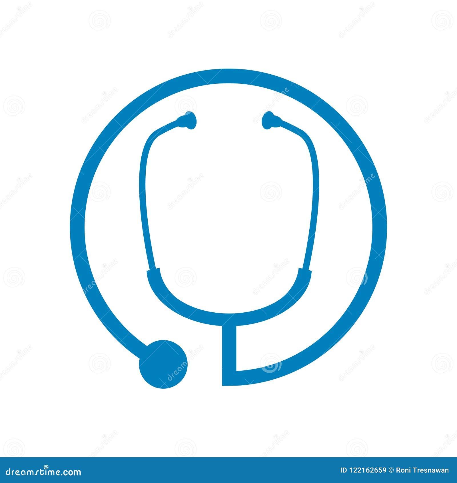 医疗听诊器圈子标志商标设计