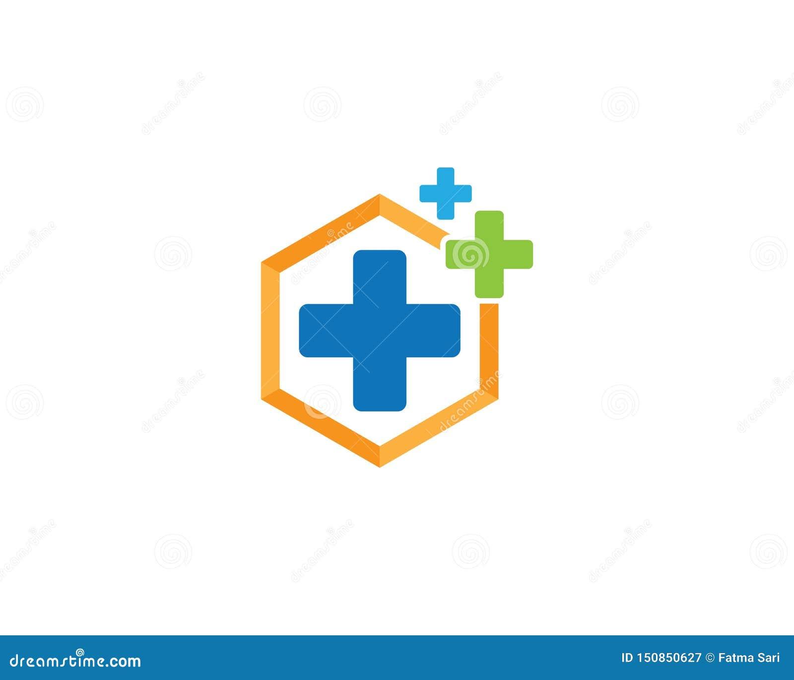 医疗商标模板例证