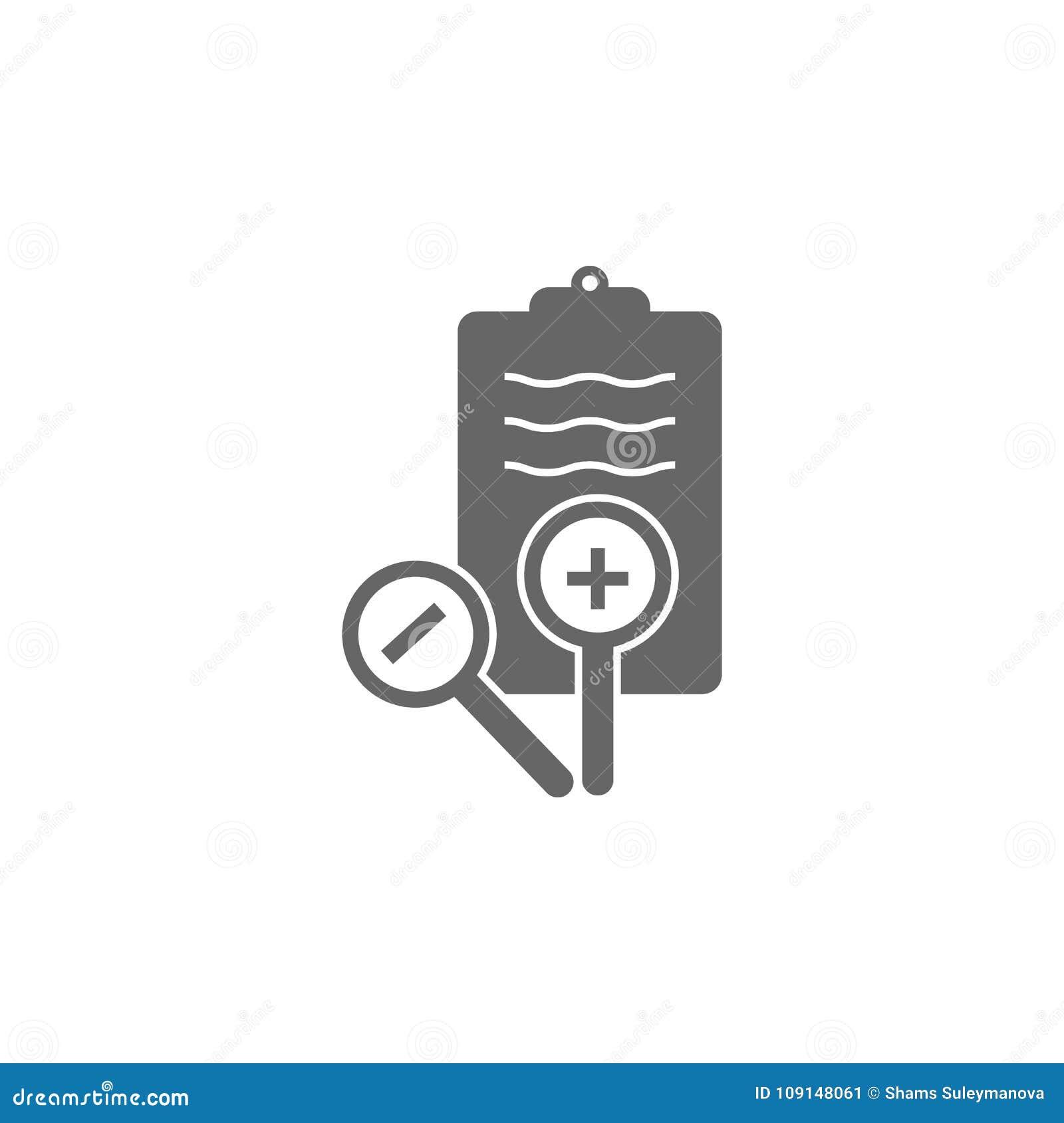 医疗处方和放大器象简单的元素例证 从医疗收藏的标志设计 能用于网和
