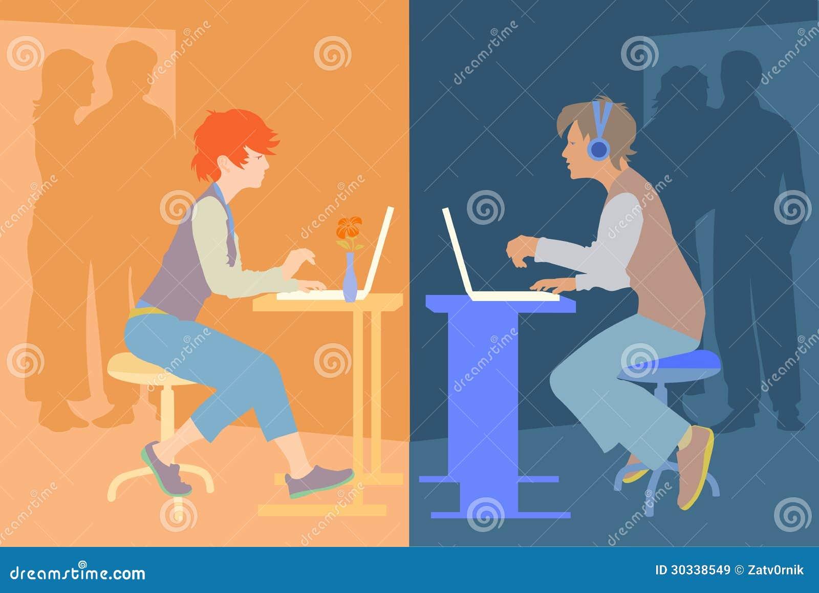 Download 十几岁 向量例证. 插画 包括有 头发, 女孩, 监控程序, 耳机, 笔记本, 重点, 男朋友, 通信, 孩子 - 30338549
