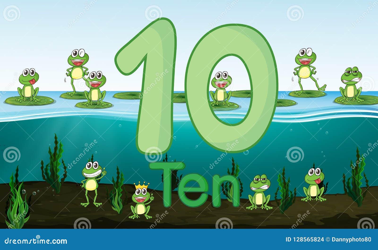 十在池塘的青蛙