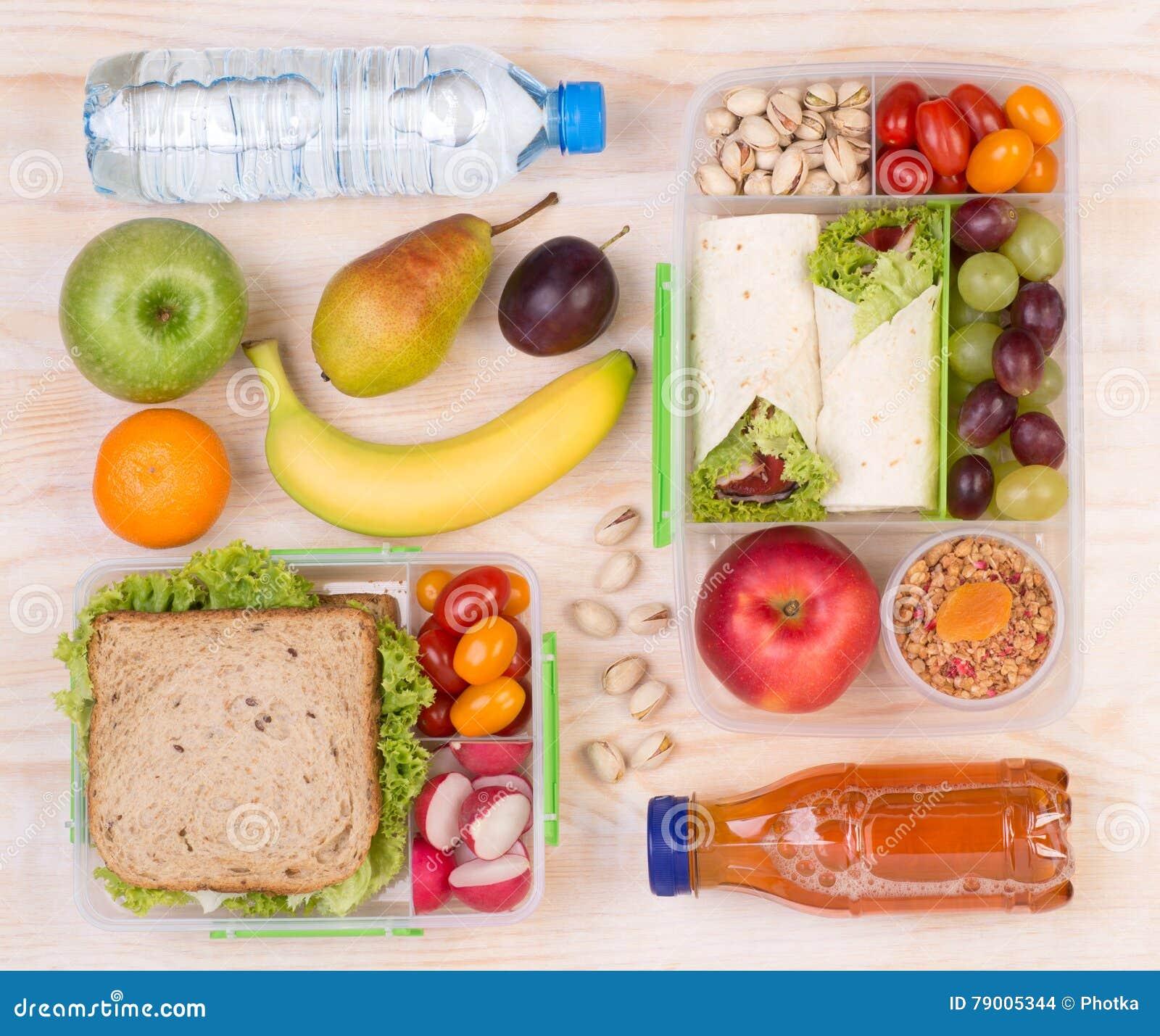 午餐的,顶视图食物