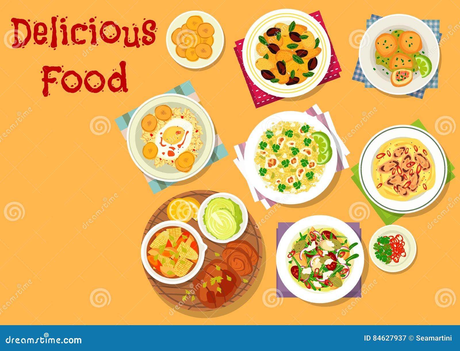 午餐菜单设计的开胃盘象