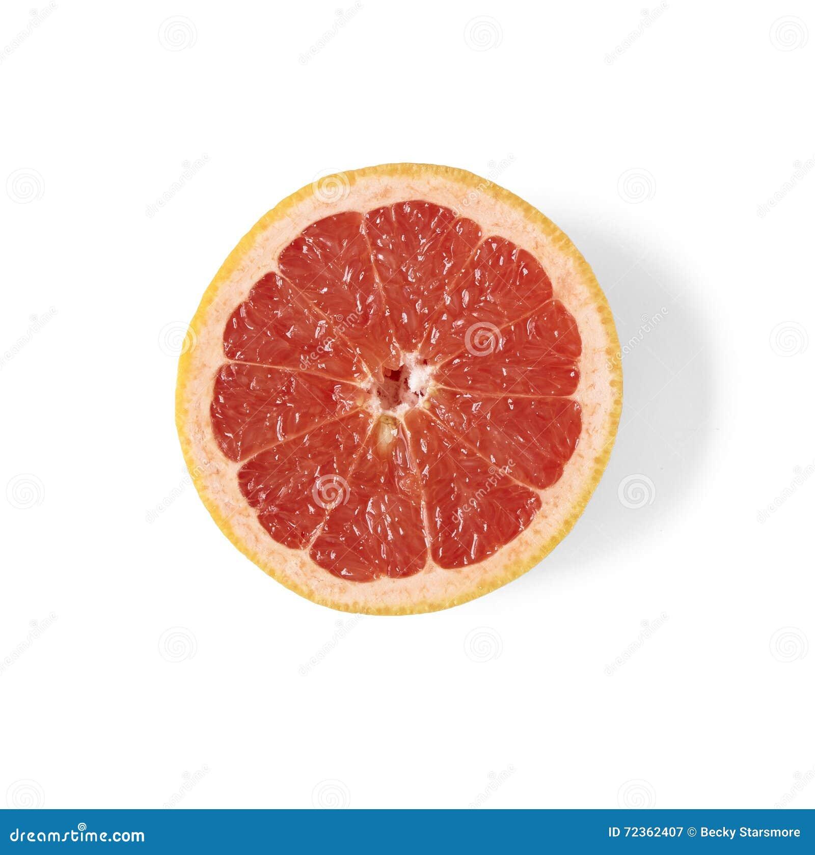 半的葡萄柚