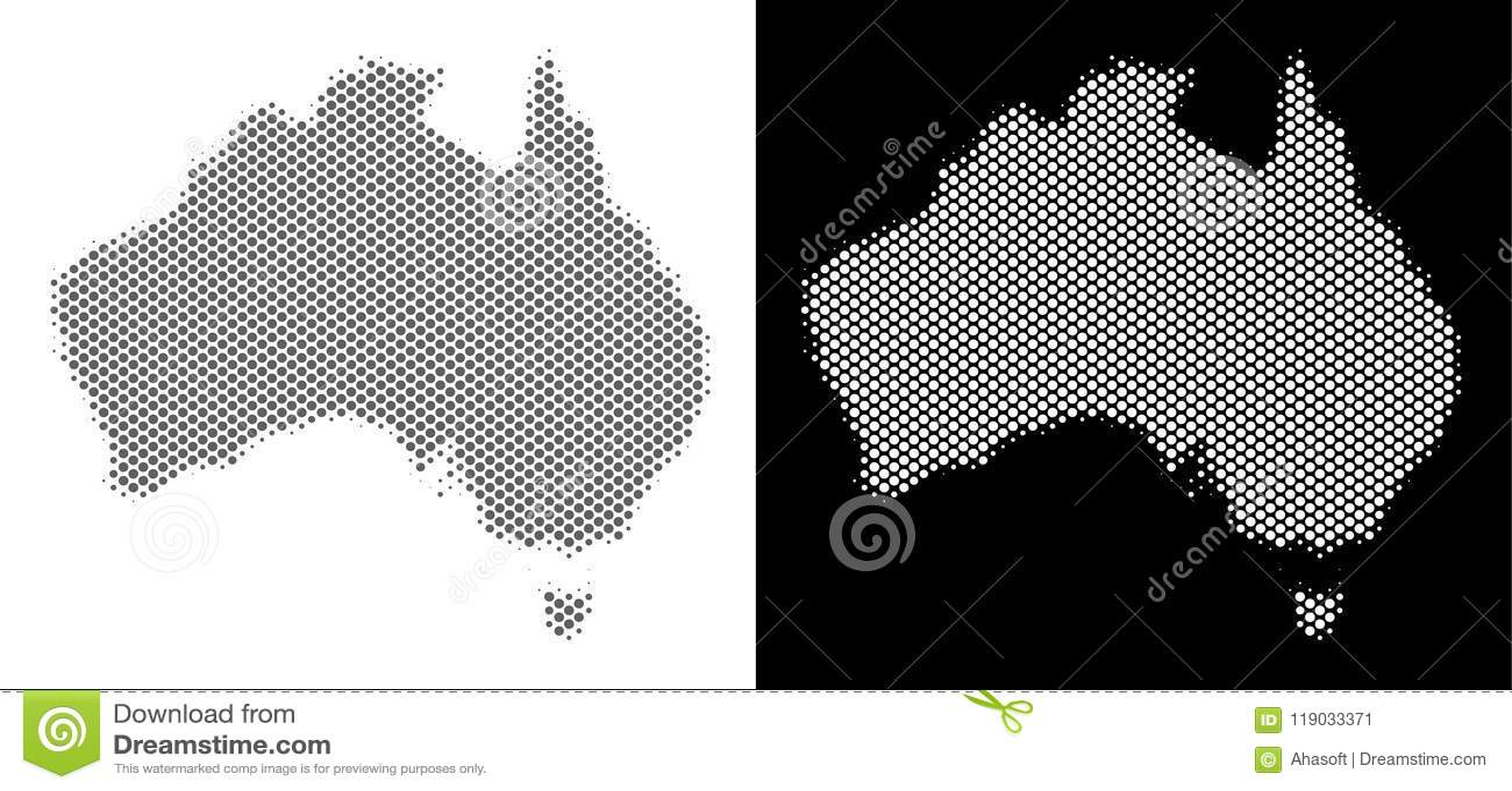 半音澳大利亚地图