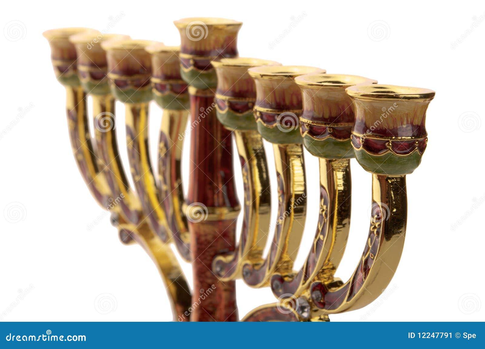 华丽古铜色片段的menorah