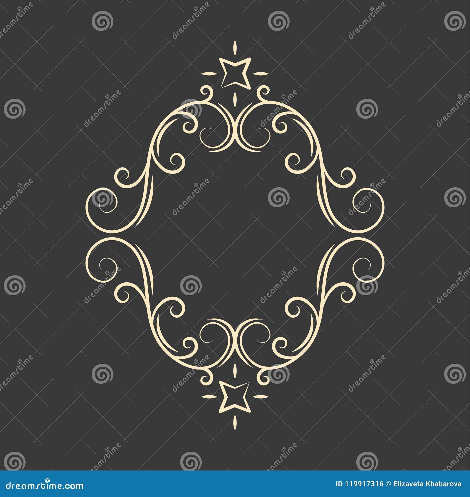 华丽装饰框架 Swirly线卷毛样式 贺卡,婚礼邀请,保存日期设计 向量