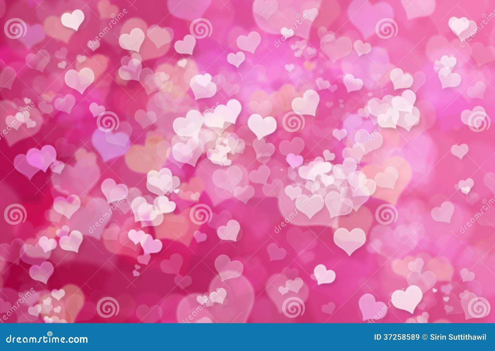 华伦泰心脏摘要桃红色背景:情人节墙纸
