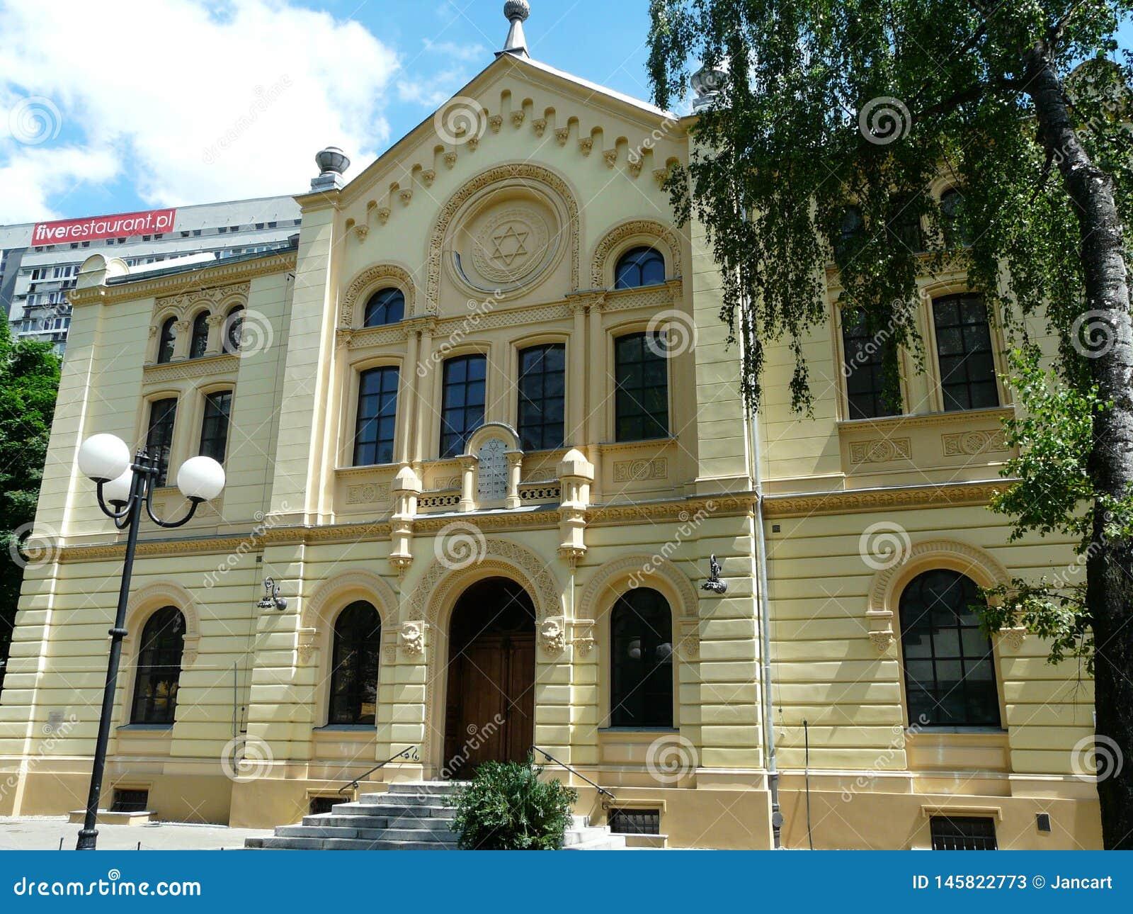 华沙,波兰老犹太教堂