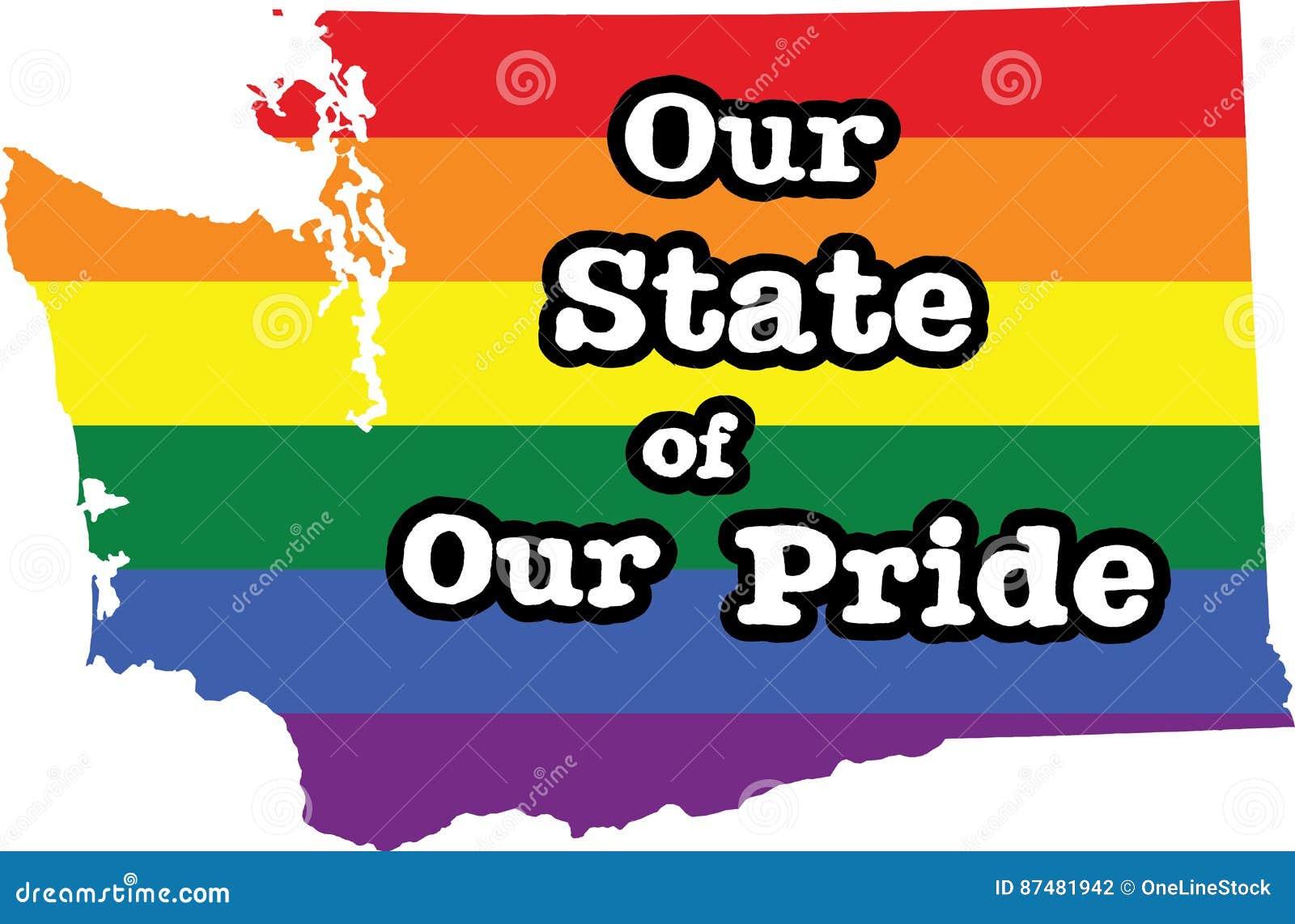 华盛顿同性恋自豪日状态标志