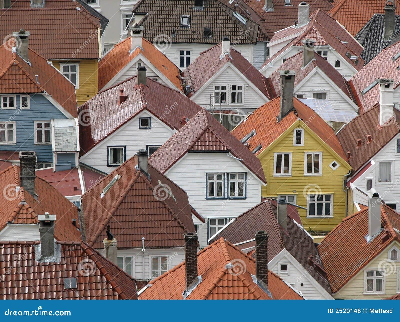 卑尔根挪威屋顶