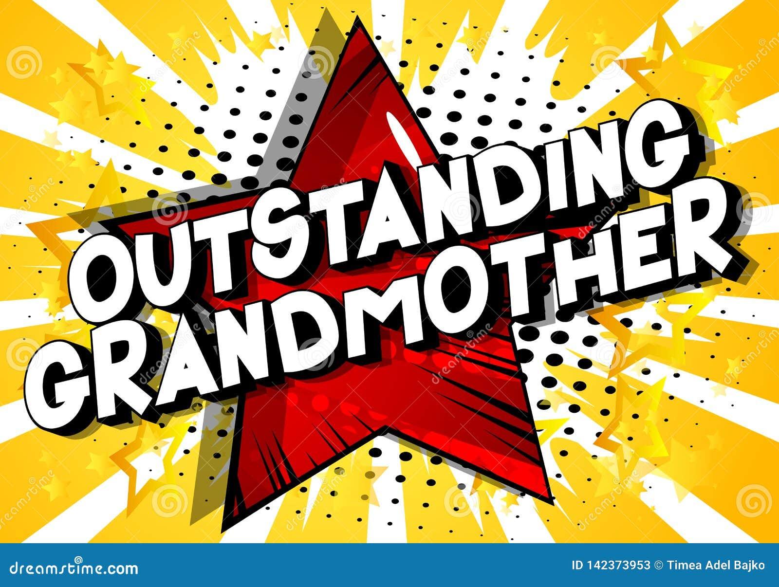 卓著的祖母-漫画样式词