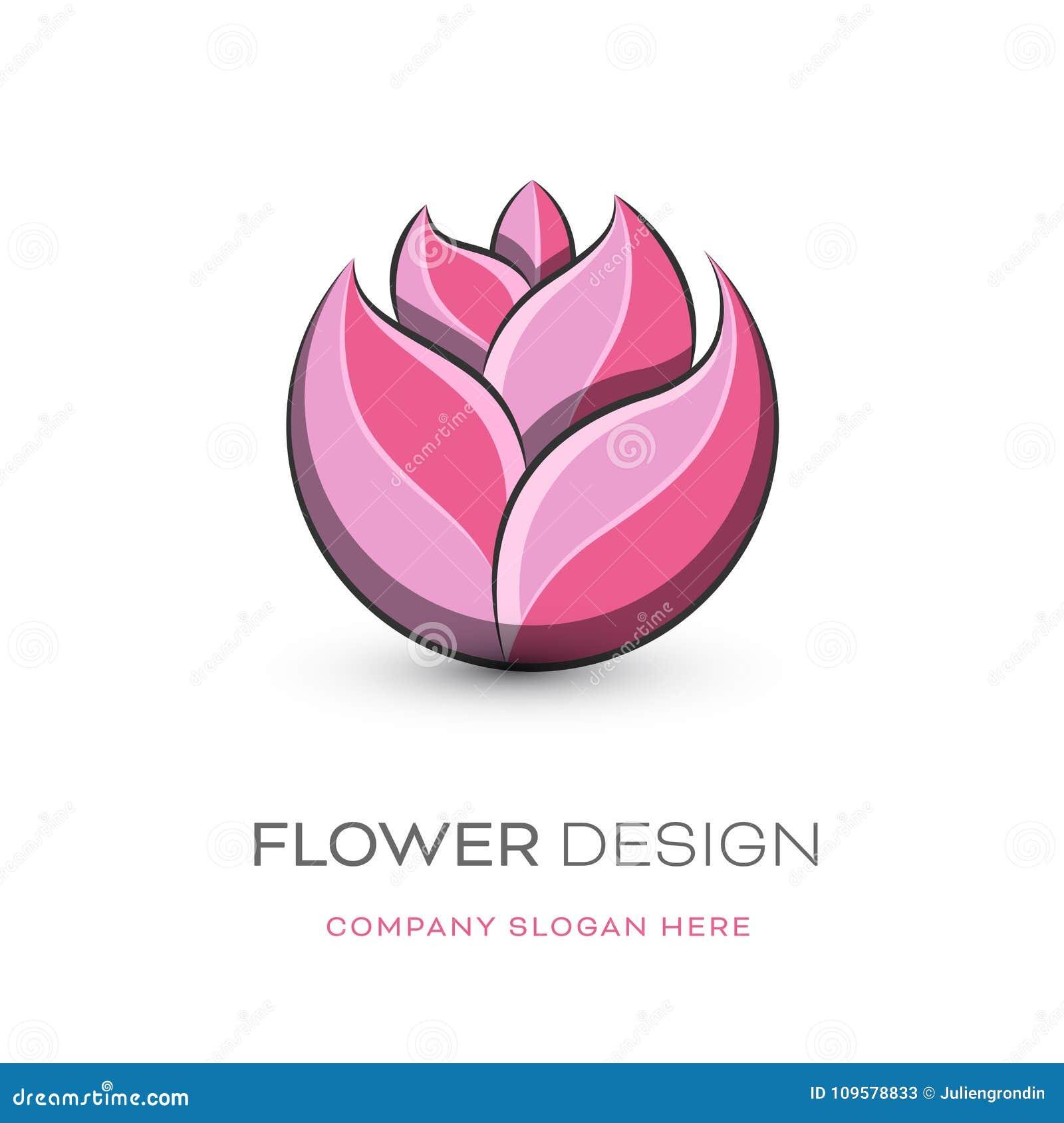 卖花人现代商标设计