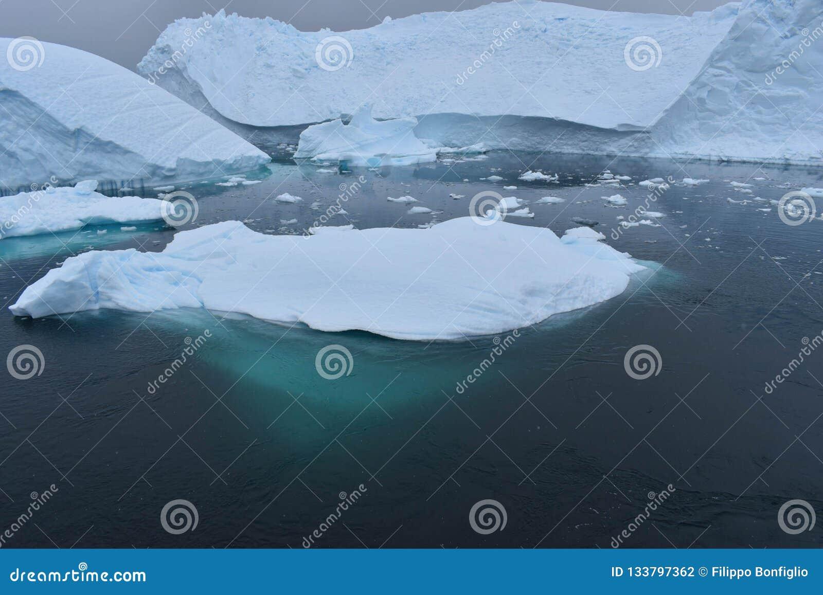 南极洲,漂浮在南极海洋的冰山