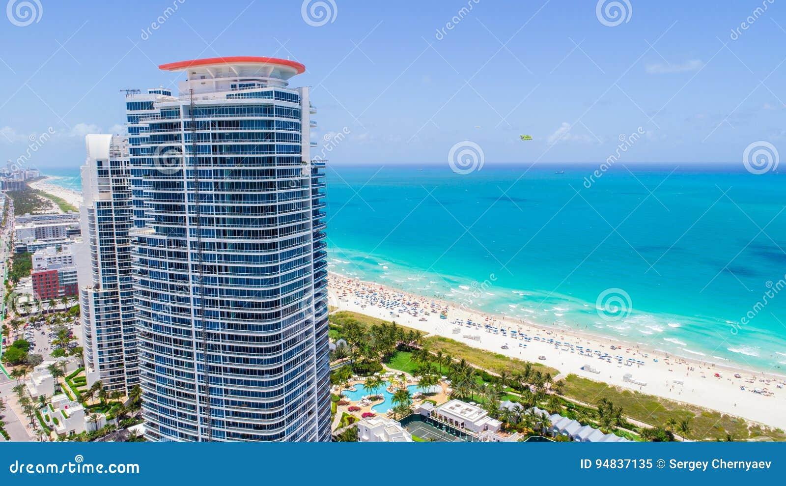 南海滩,迈阿密海滩 佛罗里达 鸟瞰图
