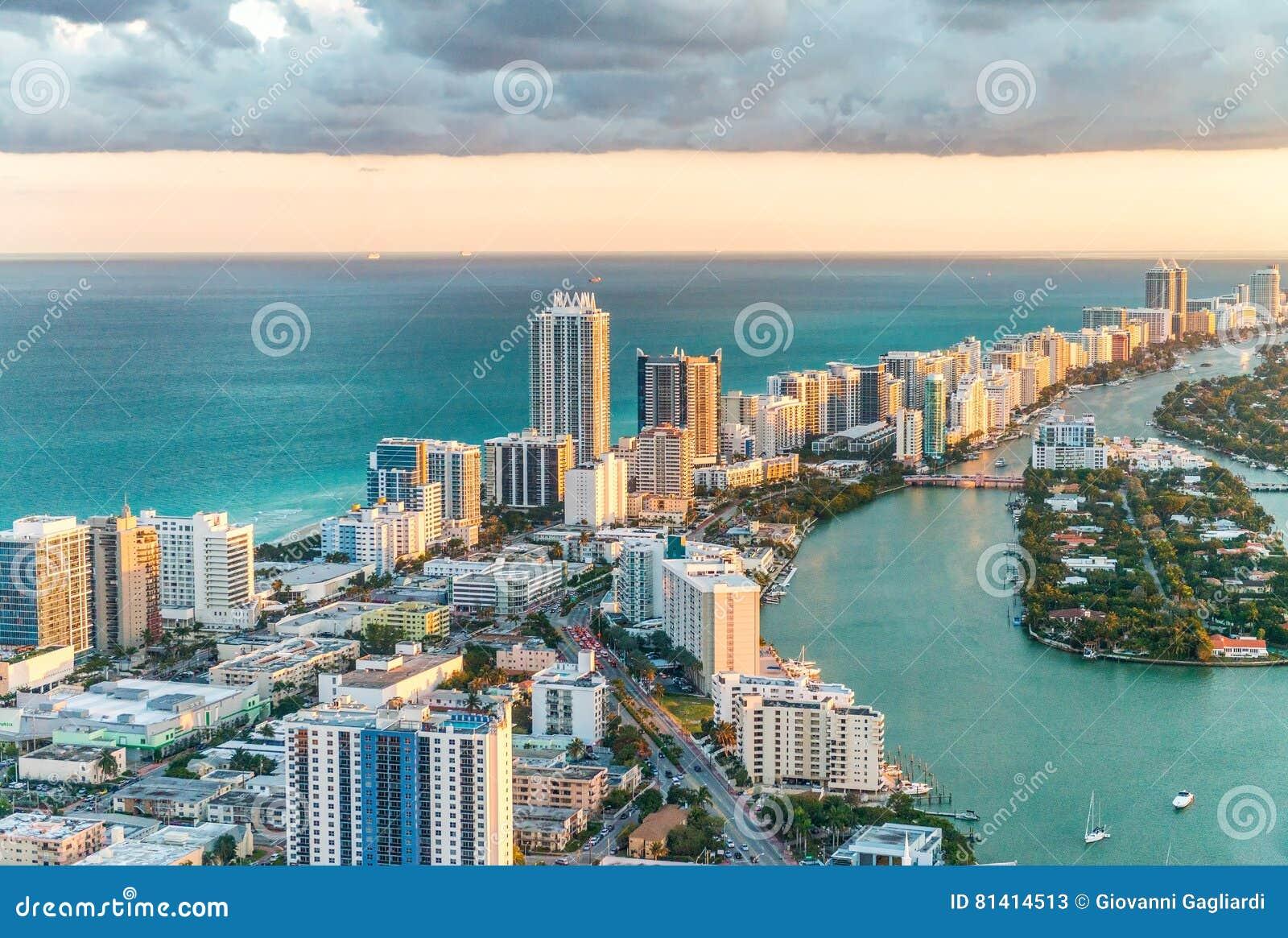 南海滩,迈阿密直升机视图