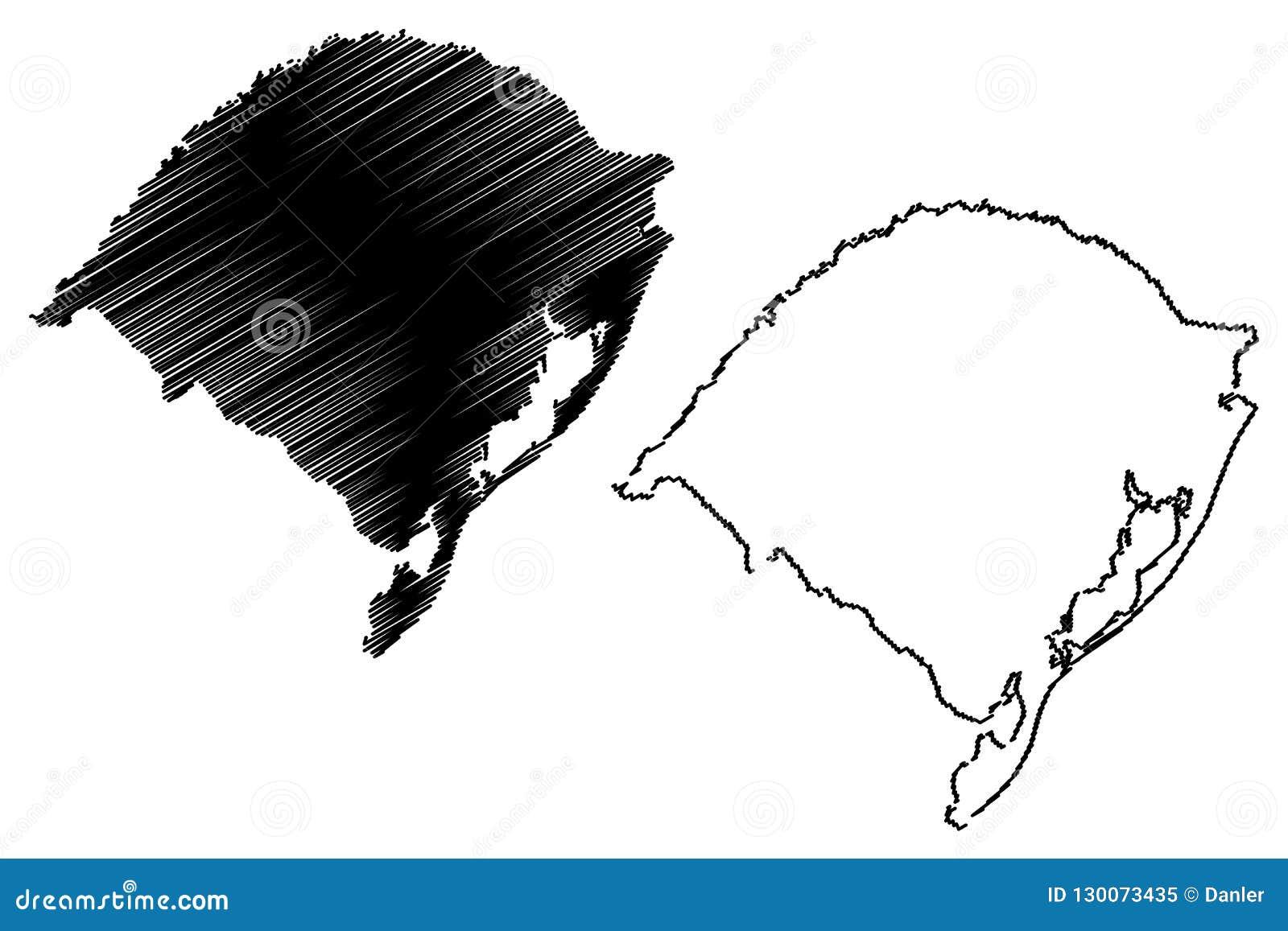 南里奥格兰德州地图传染媒介