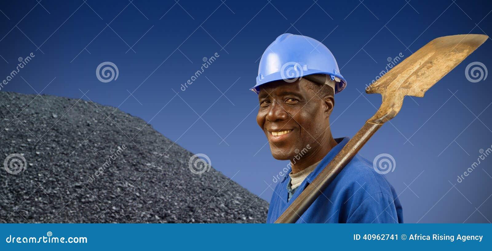 南非或非裔美国人的矿工