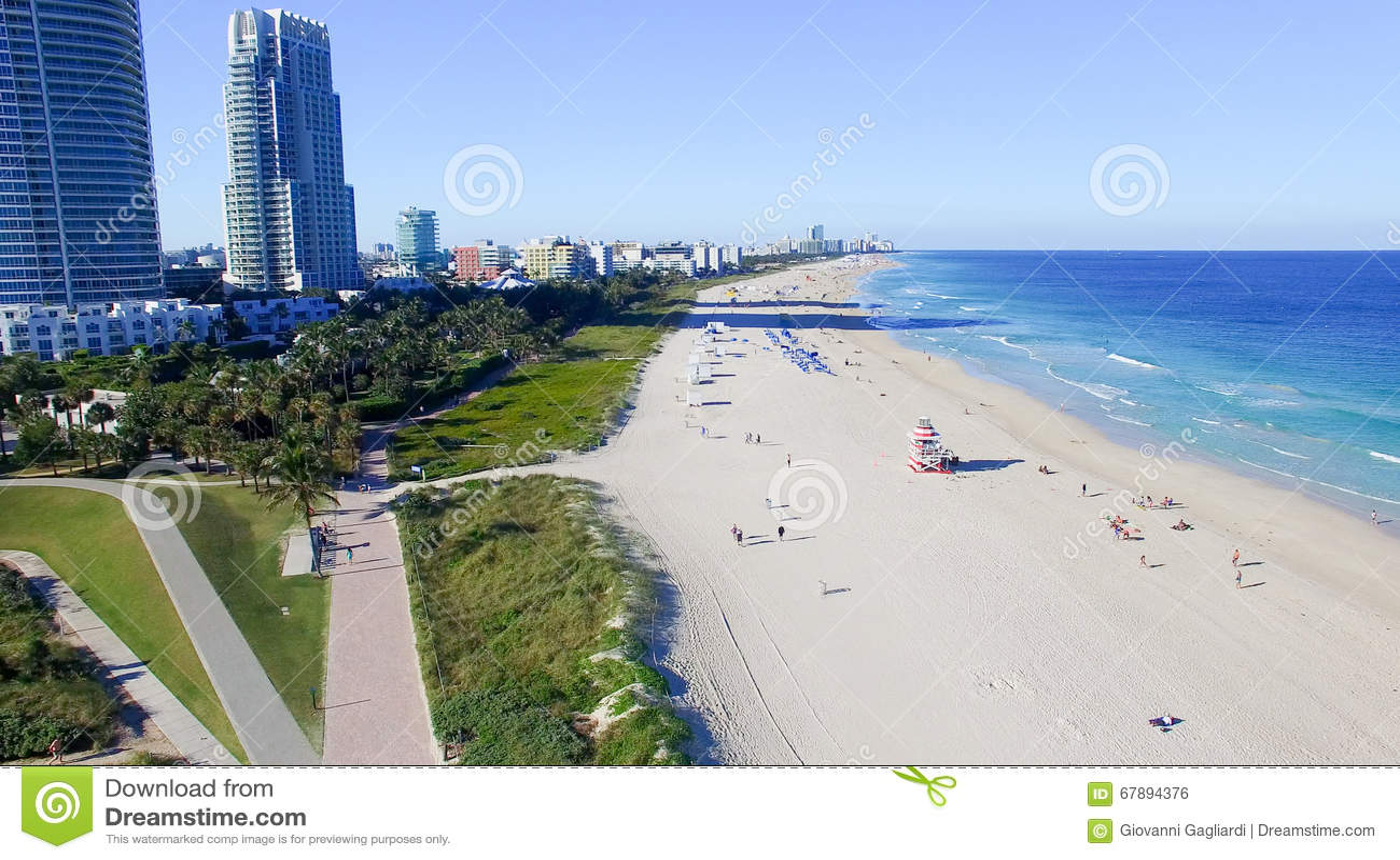 南Pointe公园在迈阿密海滩,鸟瞰图