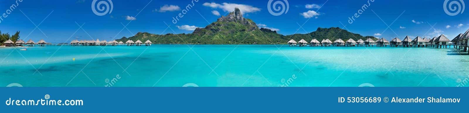 塔希提岛旅游价格_博拉博拉岛全景 库存图片. 图片 包括有 蜜月, 全景, 塔希提岛 ...