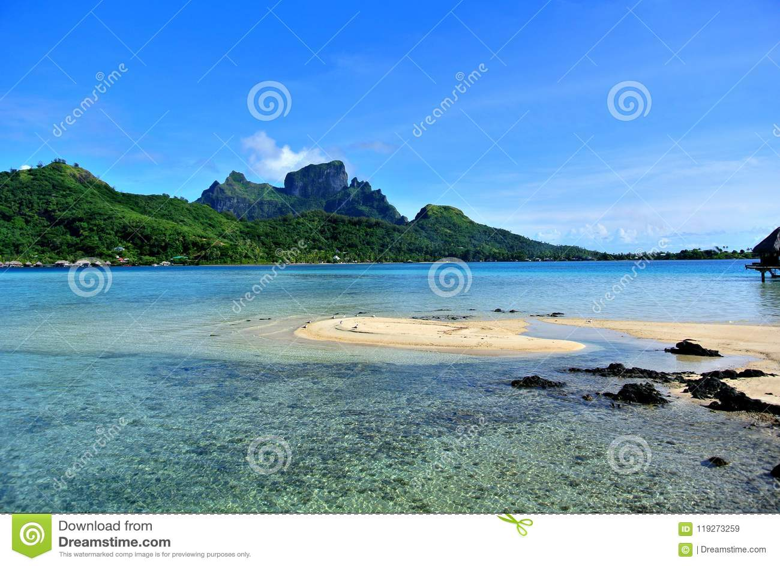 博拉博拉岛海岛山
