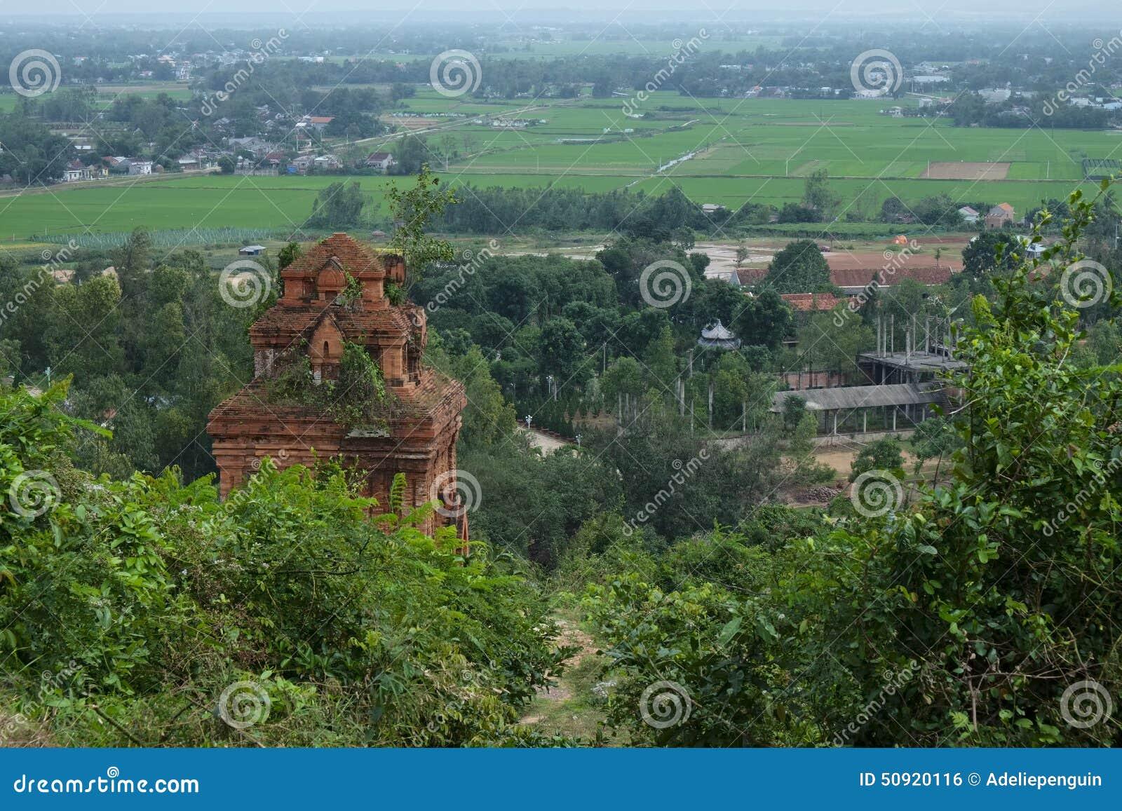 占城耸立,与下面城市,越南库存...