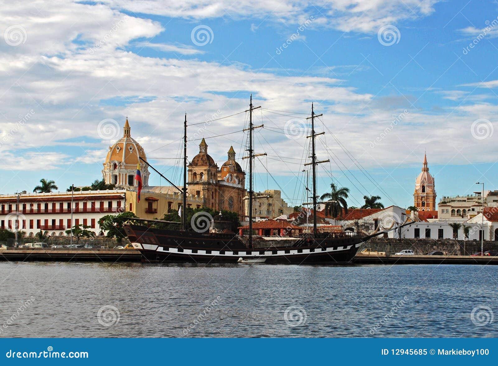 卡塔赫钠哥伦比亚de docks indias