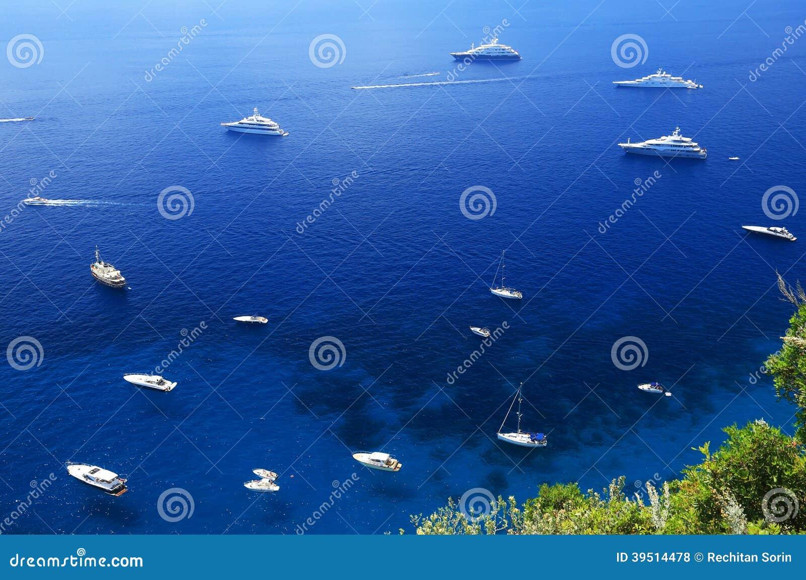 卡普里岛海岛,意大利,欧洲