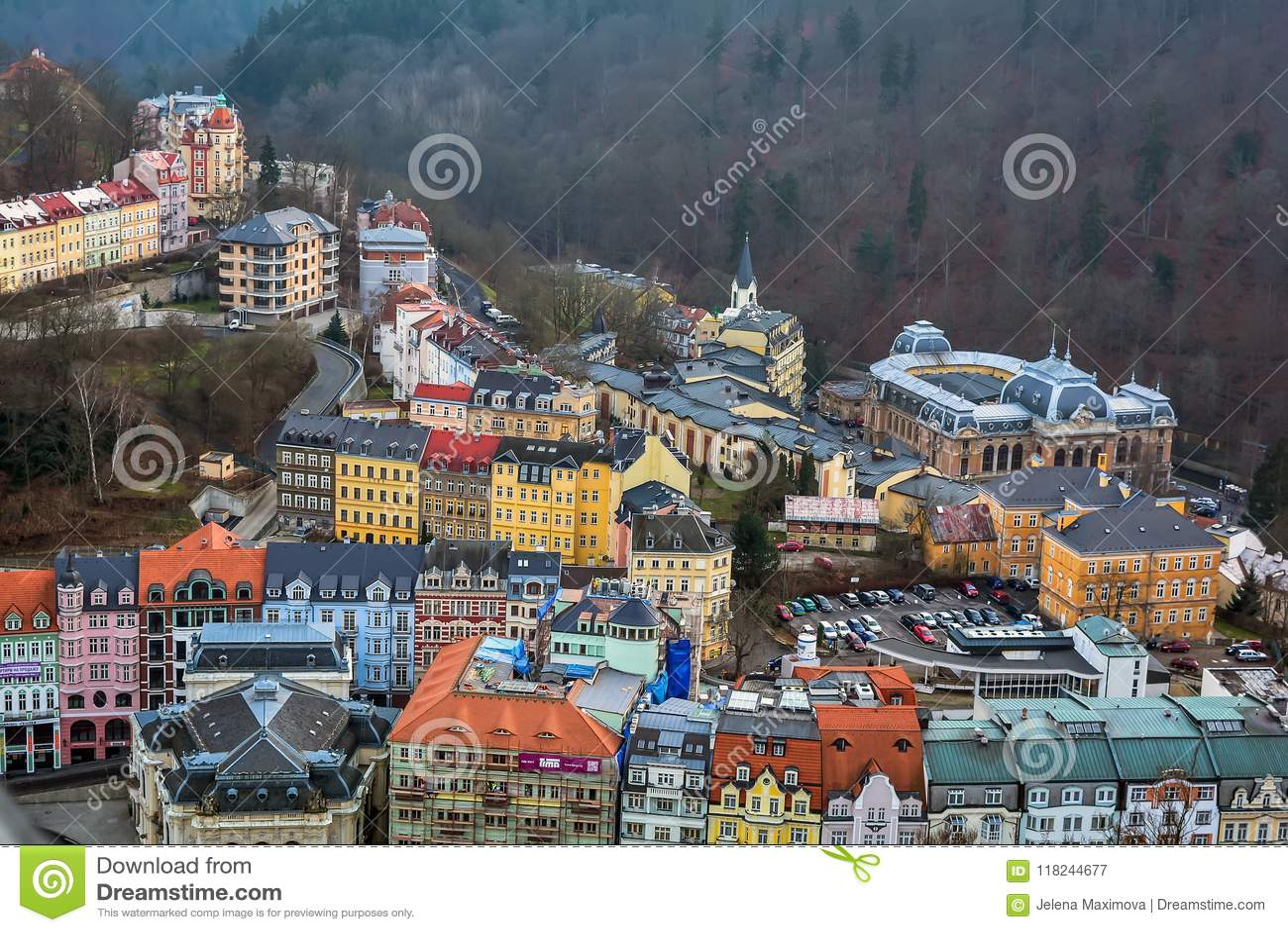 卡洛维都市风景变化,捷克