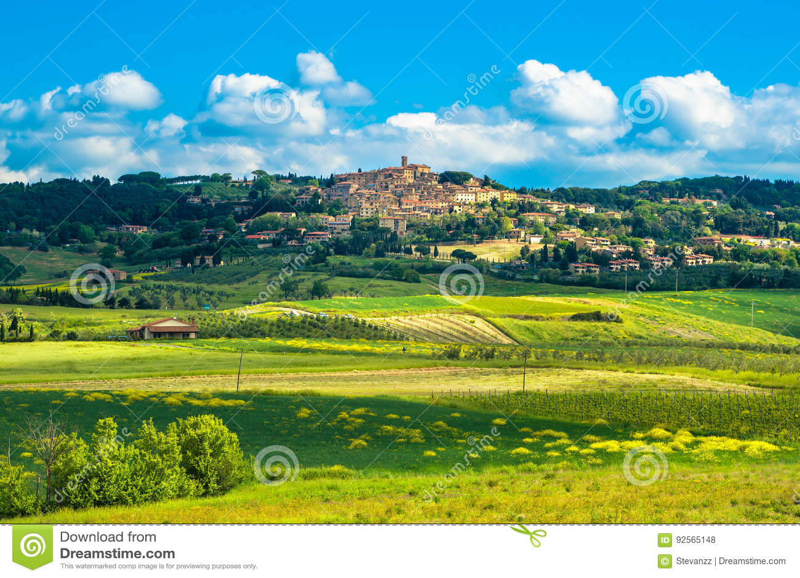 卡萨莱马里蒂莫老石村庄在Maremma 意大利托斯卡纳