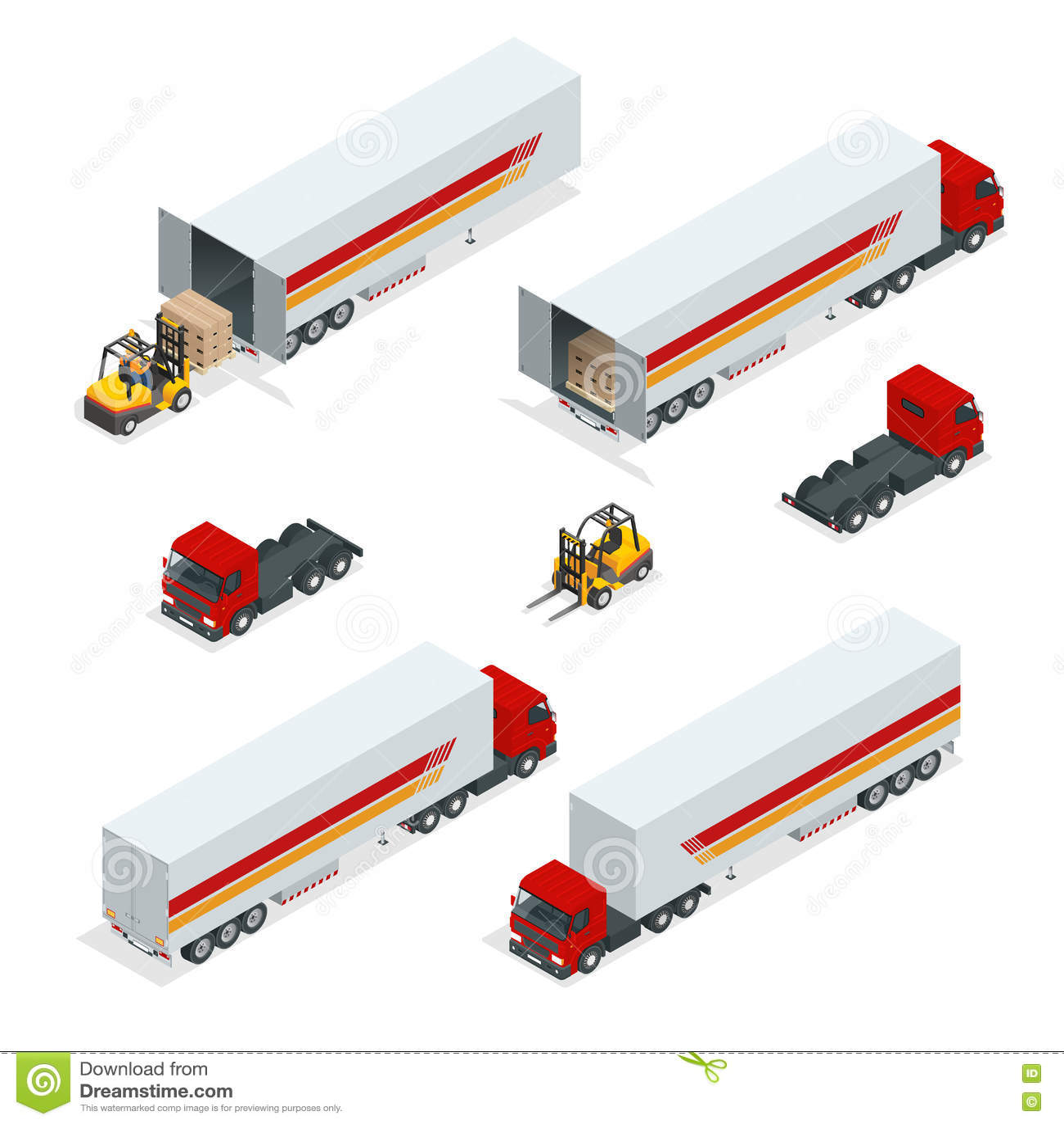 卡车导航等量运输 商用车 送货卡车 平的样式传染媒介例证送货业务