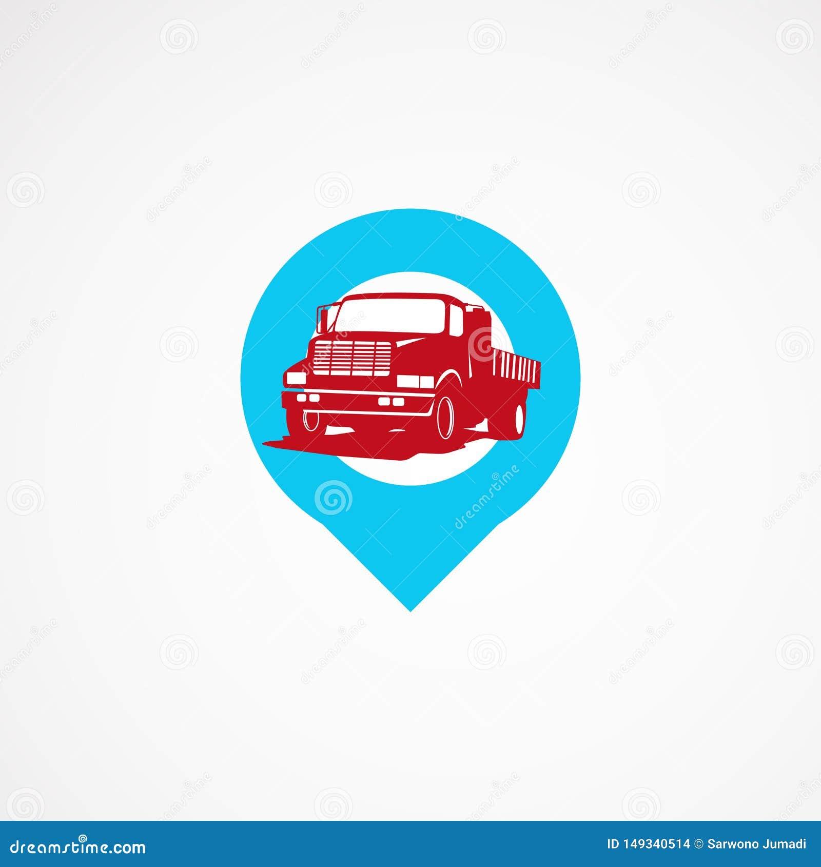 卡车点商标模板设计