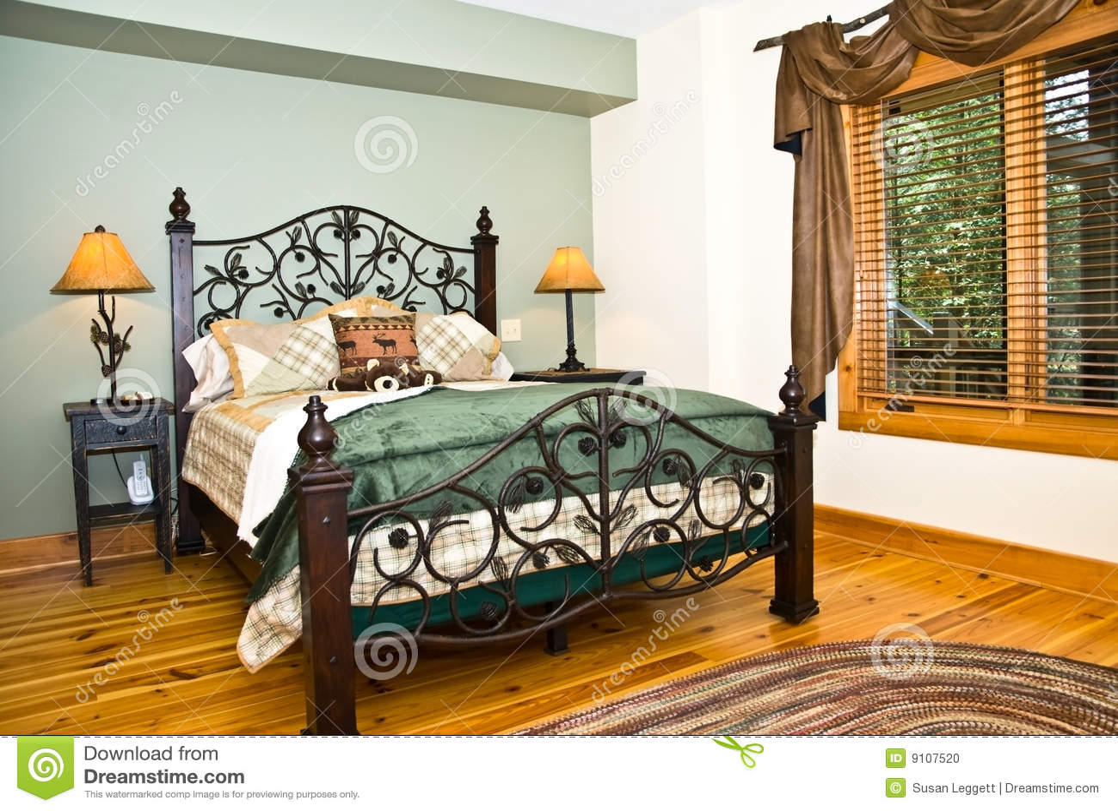 卧室装饰现代土气