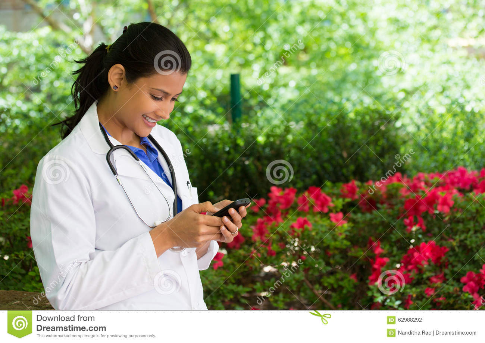卫生业职员发短信