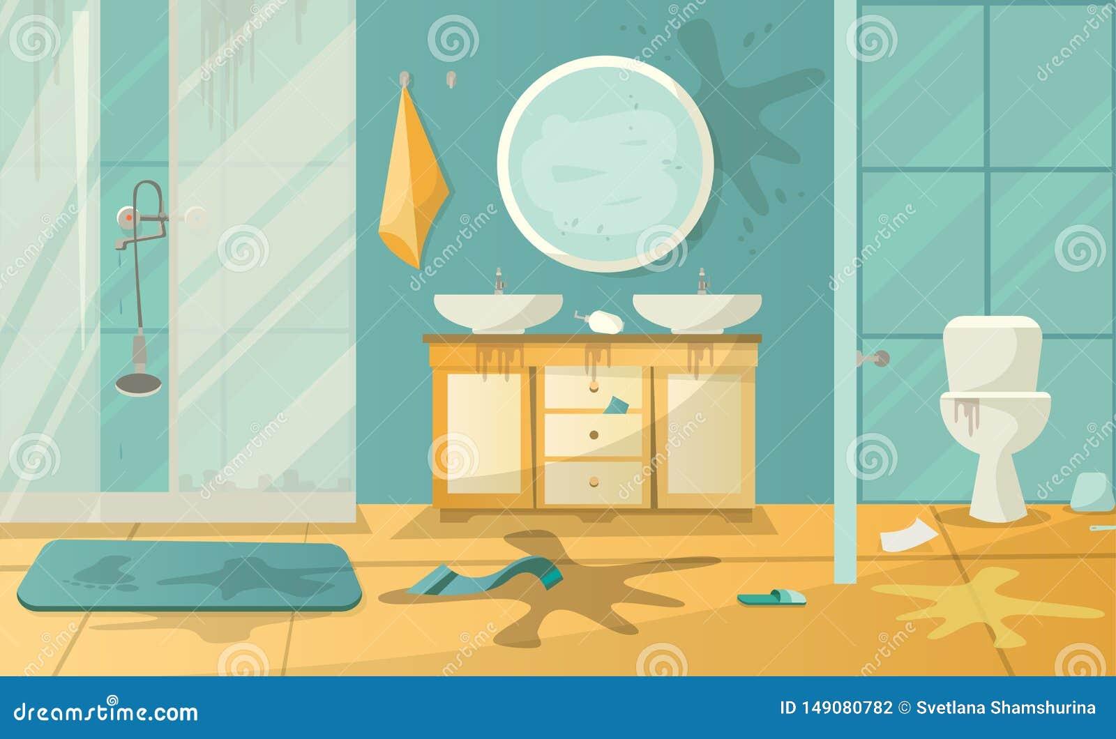 卫生间和辅助部件肮脏的内部有洗手间水槽阵雨cabbin的在一个现代样式的 :