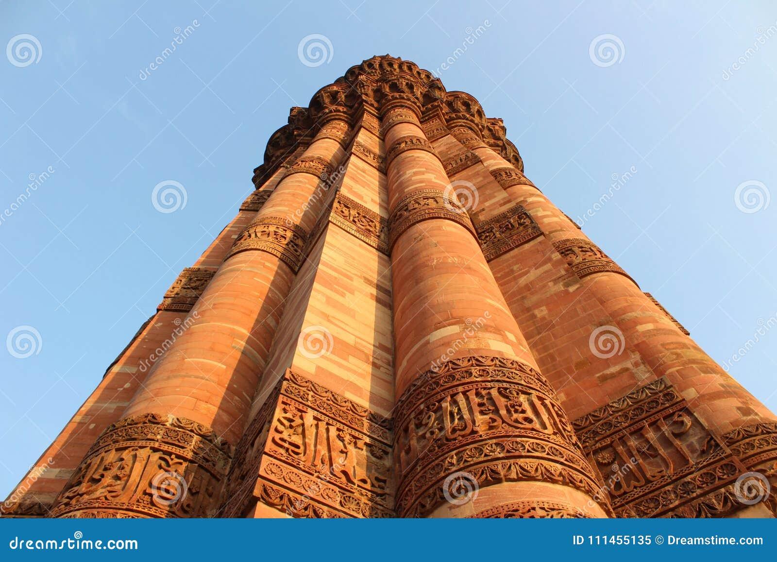 印地安纪念碑minar的Qutub