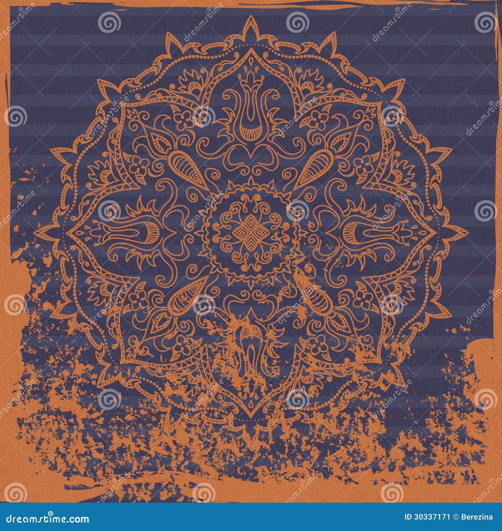 印地安装饰背景