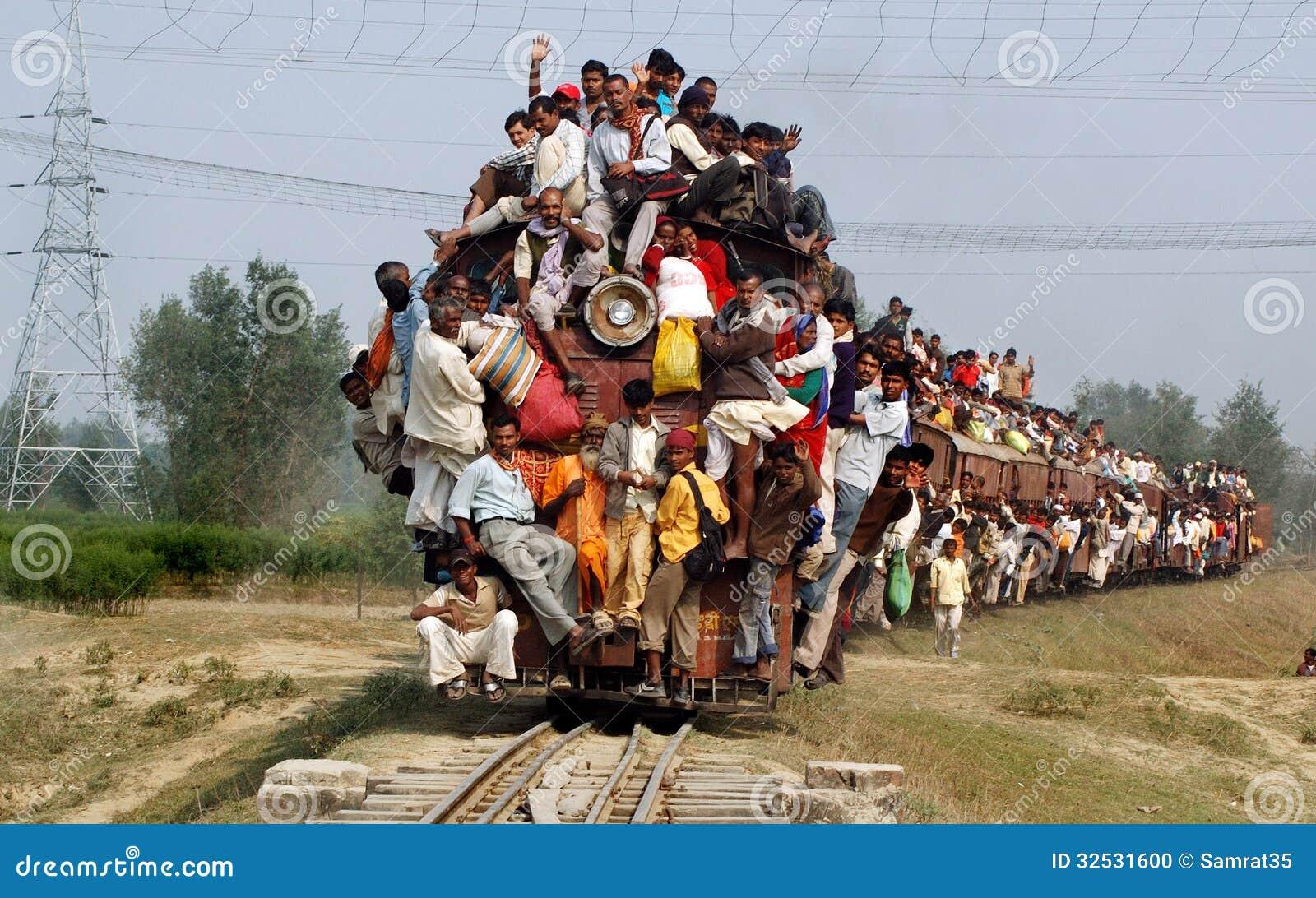 印地安铁路旅客。