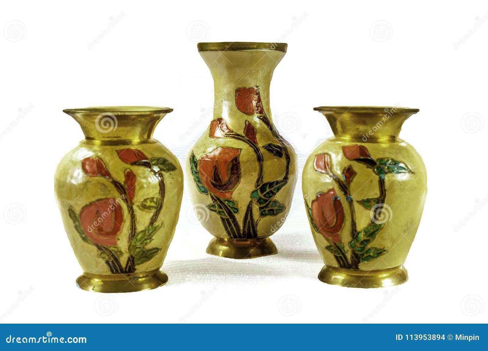 印地安黄铜花瓶