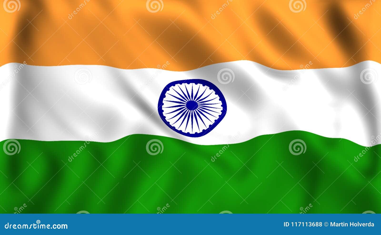 印度印度的旗子标志